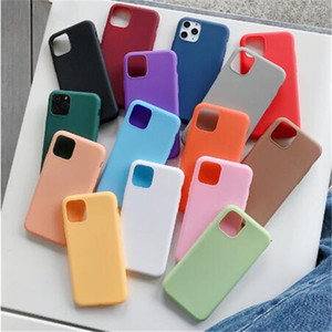 Color de caramelo ultra delgado Matte Frosted Soft TPU TPU Funda de silicona Funda a prueba de golpes para iPhone 12 Mini 11 Pro Max X XS XR 7 8 Plus