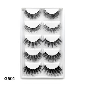 High quality lashes vendor wholesale G601 sample provide 3D mink hair false eyelashes with packaging box free shipping