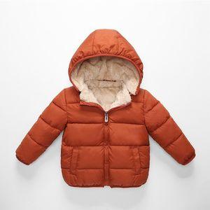 COOTELILI Fleece Winter Parkas Kids Jackets For Girls Boys Warm Thick Velvet Children's Coat Baby Outerwear Infant Overcoat LJ200831