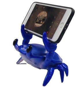 2 In 1 Creative Speaker Box Crab Bluetooth Speaker Mobile Phone Holder Portable Wireless Stereo Sound Boom-box Speakers Plastic Phone Stand