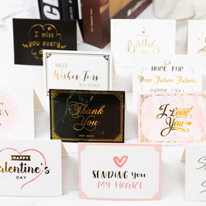 valentine day postcard with envelope thank you happy birthday wish you all the best greeting cards EWD3001