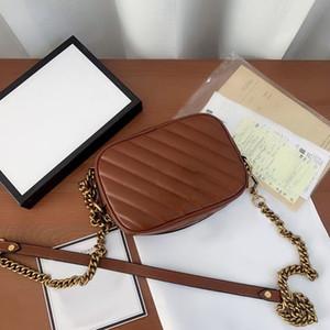 حقيبة صغيرة الإناث 2020 جديد المد جكر جلد أكياس كاميرا واحدة الكتف يميل حقيبة الكتف لينغ سلسلة حقيبة الإناث