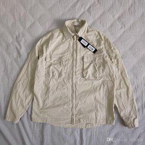 19SS 103F2 FANTASMA PIEZA Sobrecamisa el algodón de nylon TELA TOPST0NEY manera de la camisa mujeres de los hombres chaqueta de la capa HFLSCS045