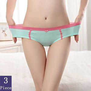 Cotton Boyshort Women 3pcs lot Cute Fashion Sexy Panties Low Waist Lady Lingerie Soft Comfortable Temptation Underwear New Style