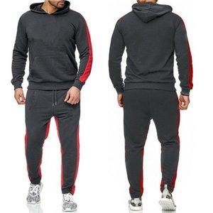 Hot Sale Set Sweatsuit Tracksuit Homens Hoodies Calças Mens Roupas Suéter Pullover Mulheres Tênis Casual Tênis Esporte Tracksuit Suor Fato No.8D