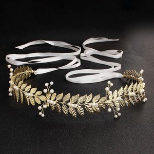 Bridal Dress Belt Alloy Leaves Imitation Pearls Girdle for Wedding Bride Bridesmaid NIN668