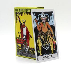 78 PCS Set 6 Options Quality Rider Wait Tarot Cards Dragon Animal Radiant  The Rider Tarot Deck Classic Tarot Board Game Y200421