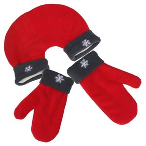 Luxury-3pcs set Christmas Couple Gloves Thicken Winter Warm Double Valentine Gift Lovers Mittens New