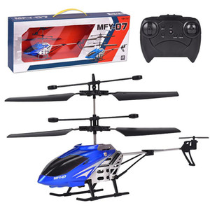 Remote Control RC Helicopter 3.5 Channel Alloy Copter Quadcopter Built-In Gyro Helicopter Radio Controlled Machines Boy Toy Gift