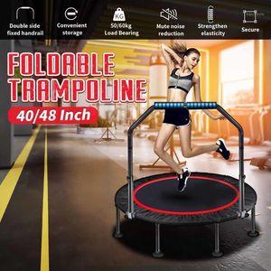 Mini Trampoline Rebounder Bar Fitness Trampoline Rebounder Jumping Exercise Mini for Kids Adults Indoor gym1
