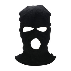 Face Mask Windproof Outdoor Masks Tactical Riding Headgear Breathable Balaclava Winter Warm Ski Hat Full Face Masks 3 Hole Headgear DDC4666