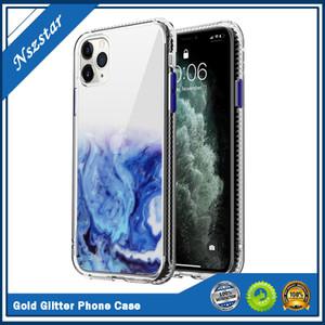 Akış altın parıldayan toz cep telefonu kabuk iphone 12 7 8 artı x xs parıldayan powde kabuk koruyucu kılıf fema iphone xr xs max
