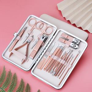 Clipper per coccole in acciaio inox oro rosa clipper per pedicure forbici per pedicure forcipe di bellezza clip per sopracciglia strumento manicure 9JK2
