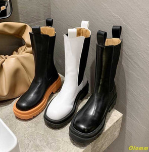 Women Boots Autumn Orange PU Motorcycle Boots Cool Girl Waterproof Female Shoes Woman Footwear Chaussures