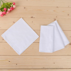 White Party Cotton Male Table Satin Towboats Square Handkerchief Whitest Men Christmas Gift 40*40cm OWB3010