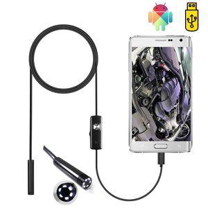 7 мм Эндоскоп Камера Гибкий IP67 Водонепроницаемый Micro USB Инспекция Borescope Камера для Android PC Ноутбук с регулируемым