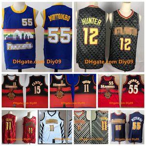 Thackback \ Ratlanta \ Rhawks Jersey Trae Mutombo Hunter Young 11 Vince Carter 15 Red \ RNBA 55 Dikembe Vintage Basketball Jerseys