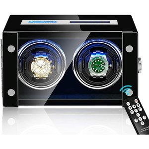 High-end Automatic Watch Winder Automatic Watches Winder Box Remote Control and Touch Screen Backlight Men and Women 2 Slots