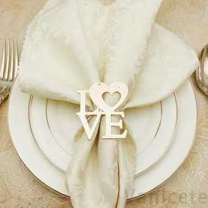 Valentine's Day Wedding Napkin Rings Metal Napkin Holders For Dinners Party Hotel Wedding Table Decoration Napkin Buckle 100pcs T1I3434