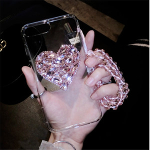 Luxury diamond heart phone cases for iphone 12 11 pro max xs xr 7 8plus back cover for Samsung S10 plus S20