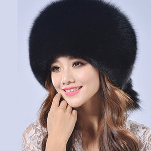 Winter New Imitation Faux Fur Hat Dome Warm Lei Feng Hat Thicker Russian Cap