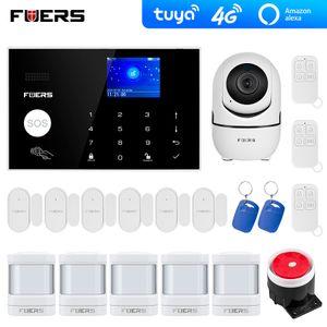 4G WiFi GSM Alarm Systems Security Tuya Alexa App WiFi Câmera Toque Toque Toque Inteligente Home Assaltante Sistema de Alarme Sistema de Alarme Y1201