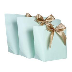 Boîte de cadeau de grande taille Emballage Gold Poignée Papier Sacs-cadeaux Papier Kraft avec poignées Mariage Baby Douche Anniversaire Fête de la fête HHE3366