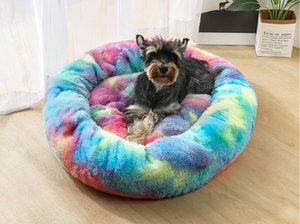 New Cat Beds XXL 100cm Long Plush Super Soft Pet Bed Kennel Dog Round Cat Winter Warm Sleeping Bag Puppy Cushion Mat Portable Furniture