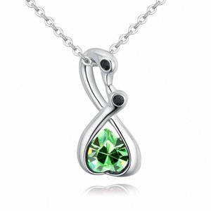 TRACYSWING New 5 Colors Real Austrian Crystals Fashion Heart Pendant Necklace for Women Valentine Gift Th-130806