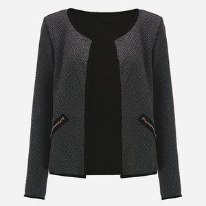 CNCOMNET Big Yard Autumn Plaid Thin Coats Women Short Jackets Casual Slim Long Sleeve Blazers Cardigans Female Outwear Suits 4XL Y200827