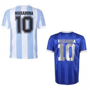 Maradona retro soccer jerseys home away camiseta maradona jersey maillot maradona1986 kids men classic football shirts vintage soccer tops