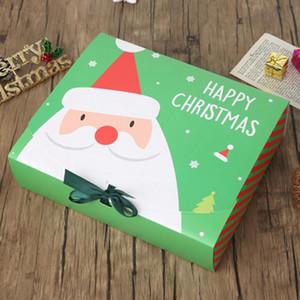 عشية عيد الميلاد هدية كبيرة مربع سانتا كلوز الجنية تصميم كرافت papercard الحاضر حزب صالح النشاط مربع الأحمر هدايا الخضراء حزمة صناديق