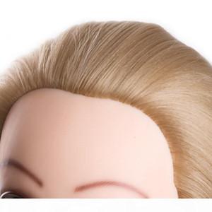голова куклы для парикмахерского 80сма волос синтетического манекена головы прически Женского манекена Hairdressing Styling Training Head