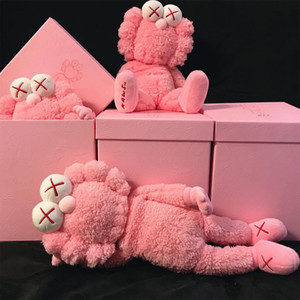 Hyfrdfman Kaws Seesame Street BFF Plush Розовая кукла Ручной работы Неделя Мода Игрушка GiftGDR