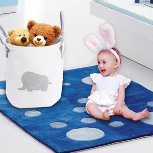 34.5cmx40cm Folding Dirty Clothes Laundry Basket For Toy Clothing Storage Bucket Laundry Organizer