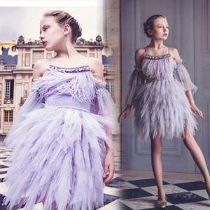 Short Skirt For Girls Beads Flower Girl Dresses for Wedding Sequins Little Girls Pageant Dress vestidos de desfile