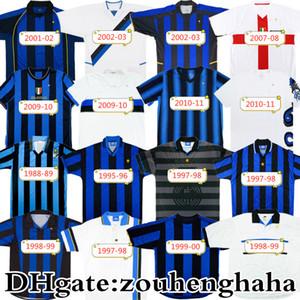 Jersey de football rétro Inter Milito 1995 96 97 98 99 01 02 03 07 08 09 10 Battistuta Ibrahimovic Ronaldo Classic Shirt de football