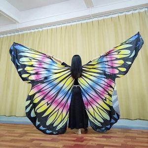 Nuove donne Belly Dance Ala Dance Puntelli per ragazze Belly Dancing Butterfly Ala Performance Props1