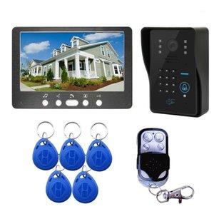 Sistema de entrada Video Doorbell Video Doorbell de Vídeo + Câmera Teclado de Códigos IR RFID + Remote1