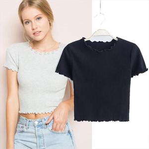 Retro fungus O neck short sleeved T shirt 2020 new ladies slim fit T shirt skinny Drop Shipping Good Quality