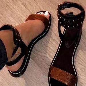 fashion Classic ladies Sandals Summer Flats Sexy Ankle High Boots Gladiator Sandals Women Casual Flats Shoes Designer Ladies Beach