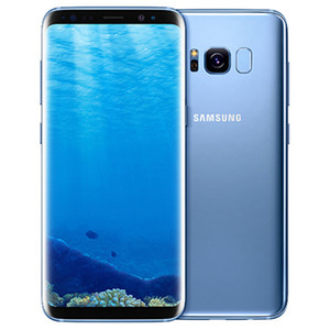 Original recondicionado Samsung Galaxy S8 G950F G950U 5.8 polegadas OCTA CORE 4GB RAM 64GB ROM 12 MP 3000mAh 4G LTE Telefone Smart DHL 5 pcs