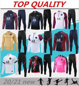 2020 2021 Pariser Fußballtraining Anzug Mbappe Langarm Sweatshirt 20/21 Maillot de Foot di Maria Verratt Football Jogging Jacke Trainingsanzug