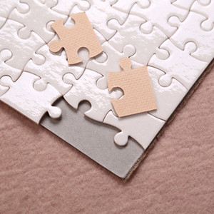 A5 Taille DIY SUBLIMATION Puzzles Puzzle vierge Puzzle Jigsaw Heat Printing Transfert Jigsaw Diy Saint Valentin Cadeaux W-00567