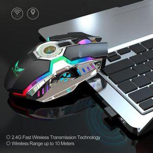 Seenda Gaming Mouse recargable 2.4G USB Ergonómico Ergonómico LED LED retroiluminado Mouse óptico para PC Laptop