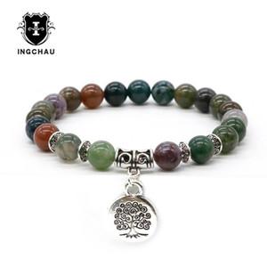 Braccialetti di fascino antico argento placcato buddismo albero della vita uomini Aventurina braccialetto amazzonite buddha gioielli spirituali per le donne BD-9