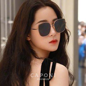 Qualidade CP31001 Óculos de Sol Besigner Óculos de Sol Retro Shades Mulheres UV Feminino Proteger Olhos Senhoras para 2020 Alta Luxo-Caponi Brand TRCAS