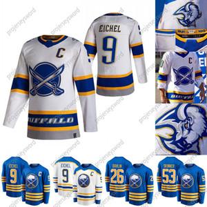2020-21 reversa retro Taylor Salão Jersey Buffalo Sabres Eric Staal Linus Ullmark Rasmus Dahlin Jeff Skinner Sam Reinhart Jack Eichel Jerseys