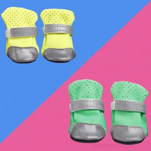 A-Ventilate shoes boots with safe reflective stripe soft shoe sole comfortable dog apparel for Teddy Bichon pet OWC1043