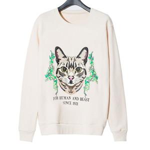 Мода Стилист Мужская Толстовка Куртка 2020 Winter Top Quality Super Soft Sweashirts Мужчины Женщины пуловер с длинным рукавом Hip Hop Cat Толстовка